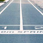 starting line for sprint