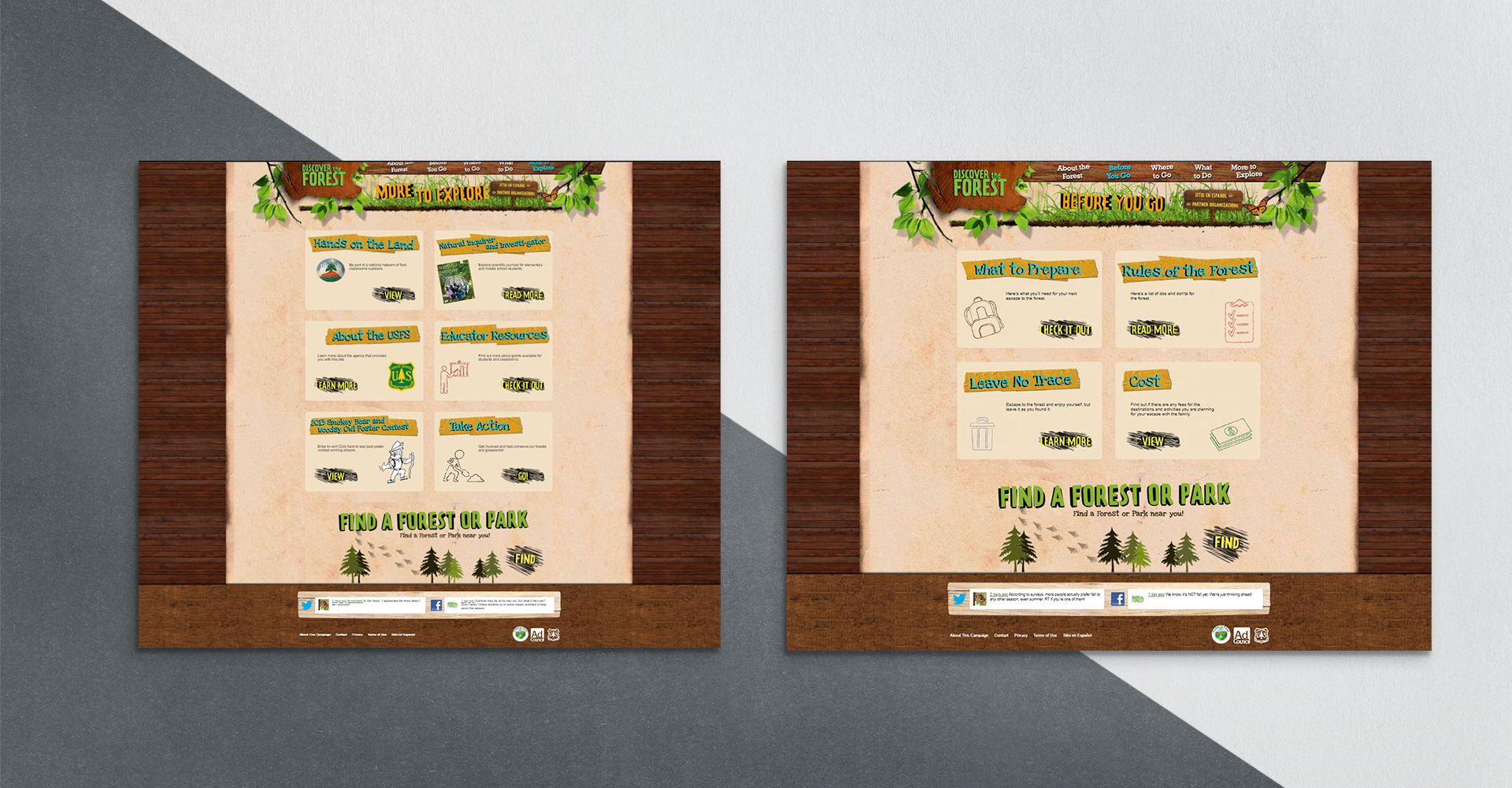 Discover the Forest website