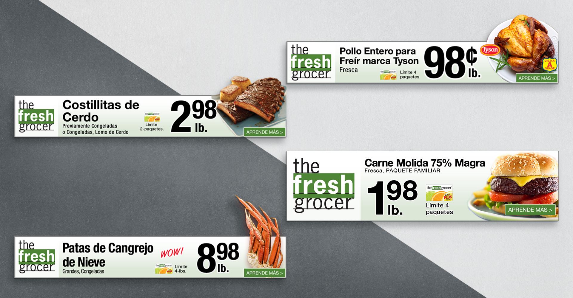 The Fresh Grocer digital display