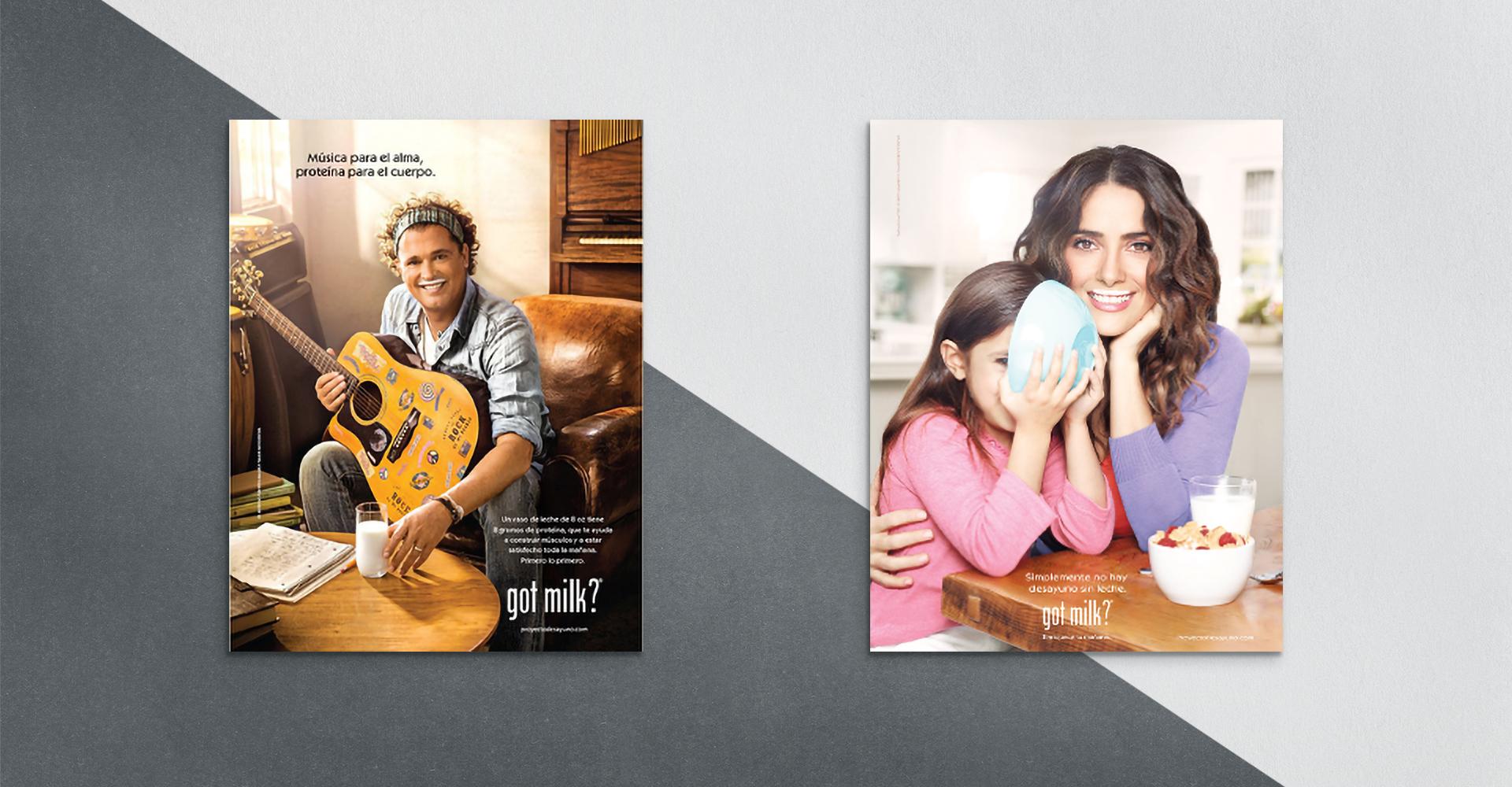 Milk print ads