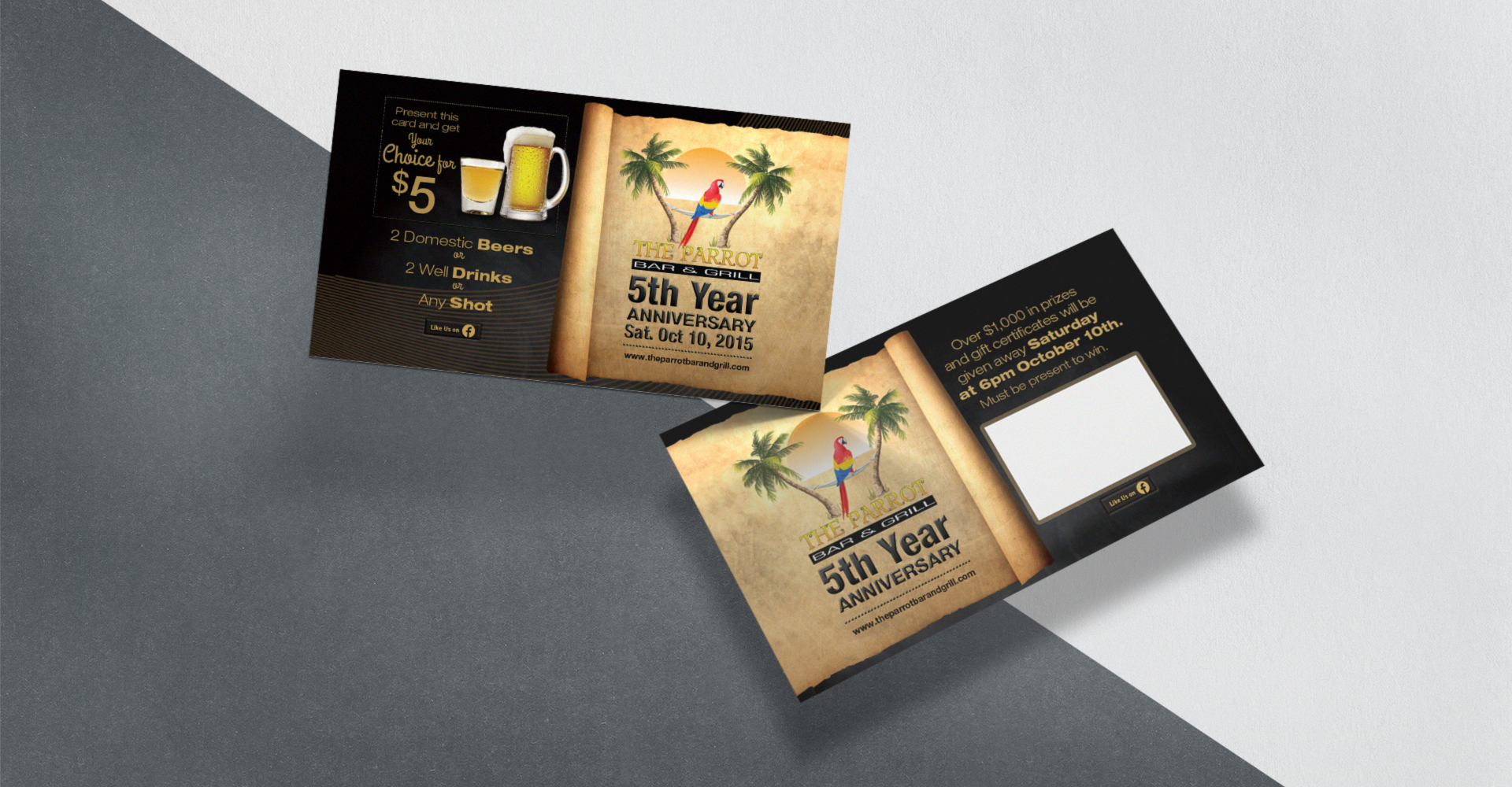 The Parrot Bar & Grill branding