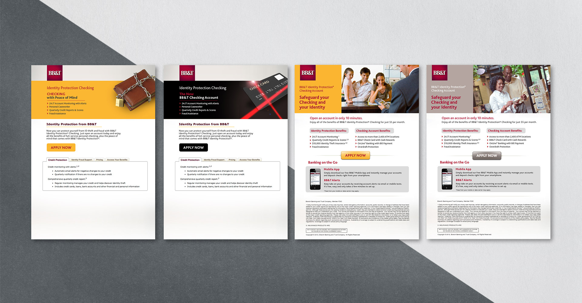 BB&T landing pages