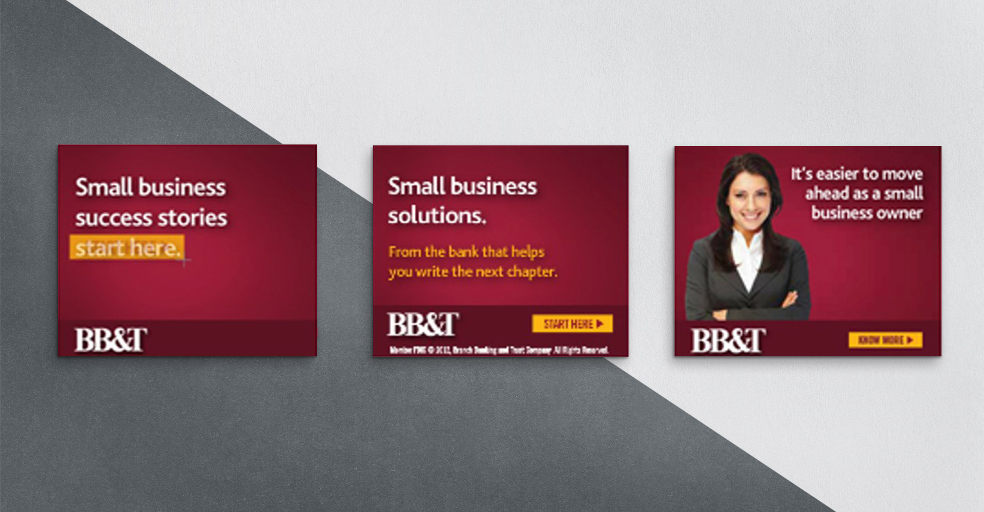 BB&T digital display banners